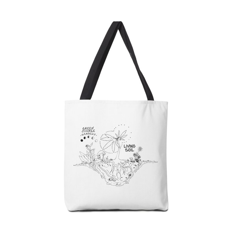 Living Soil (black ink) Accessories Tote Bag Bag by Green Source Gardens