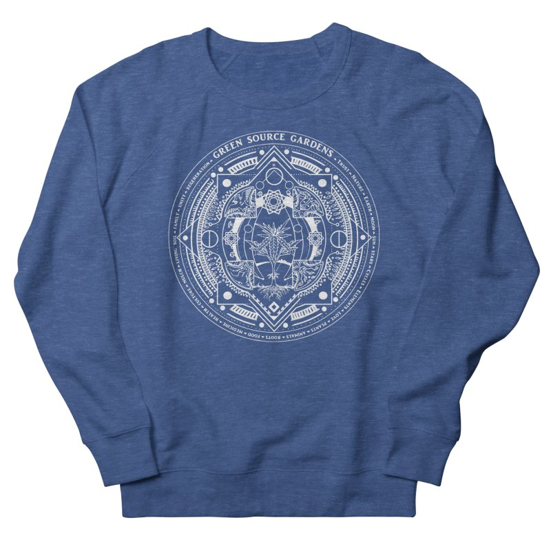 Canna Mandala (white ink) Men's Sweatshirt by Green Source Gardens