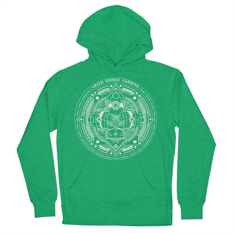 Canna Mandala W Men's Pullover Hoody by Green Source Gardens