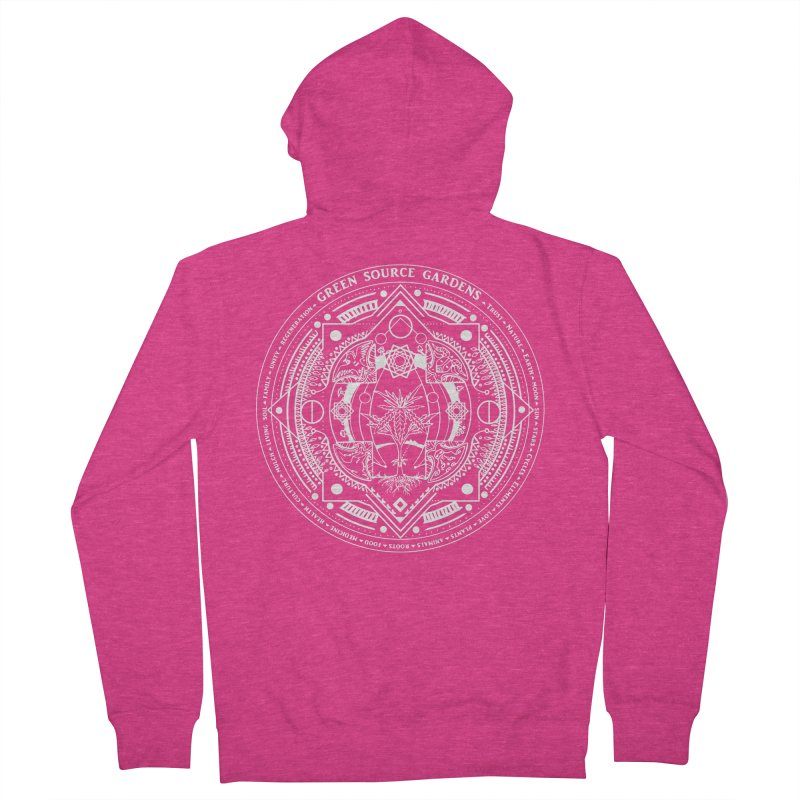 Canna Mandala W Women's Zip-Up Hoody by Green Source Gardens