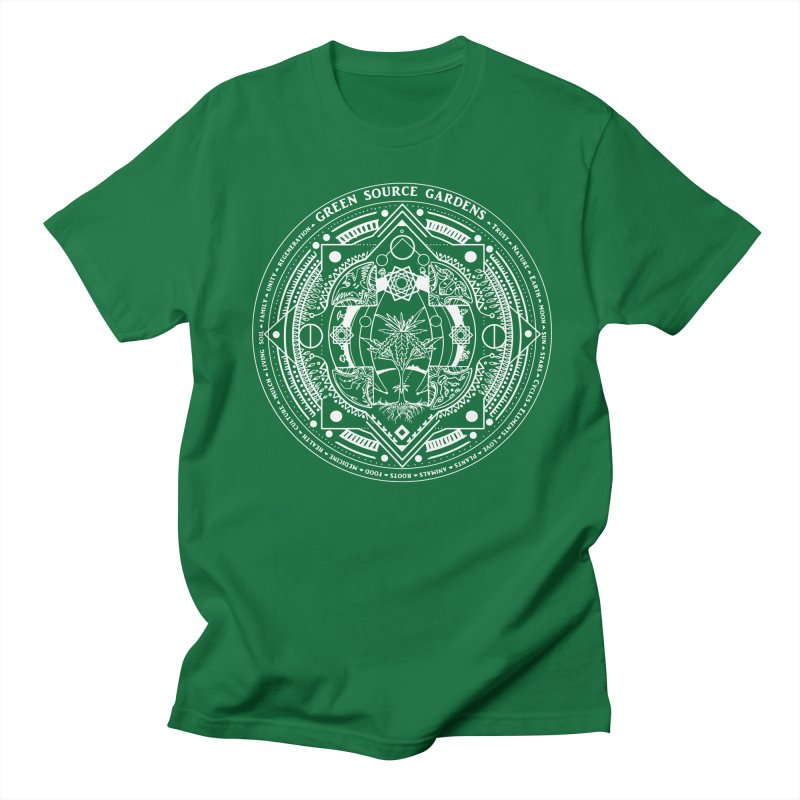 Canna Mandala W Men's T-shirt by Green Source Gardens