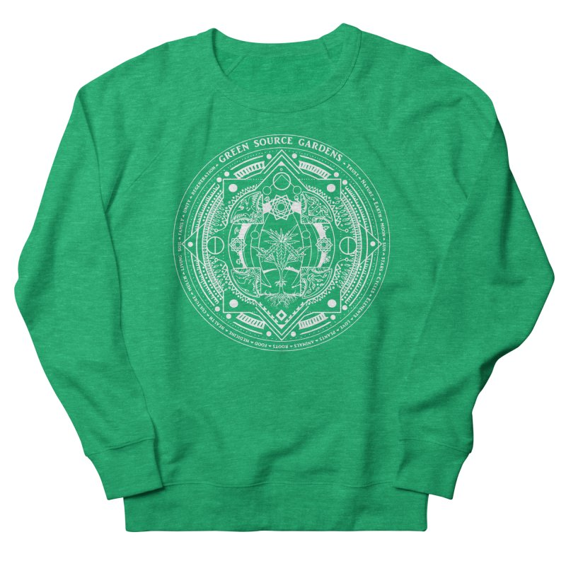 Canna Mandala (white ink) Women's Sweatshirt by Green Source Gardens