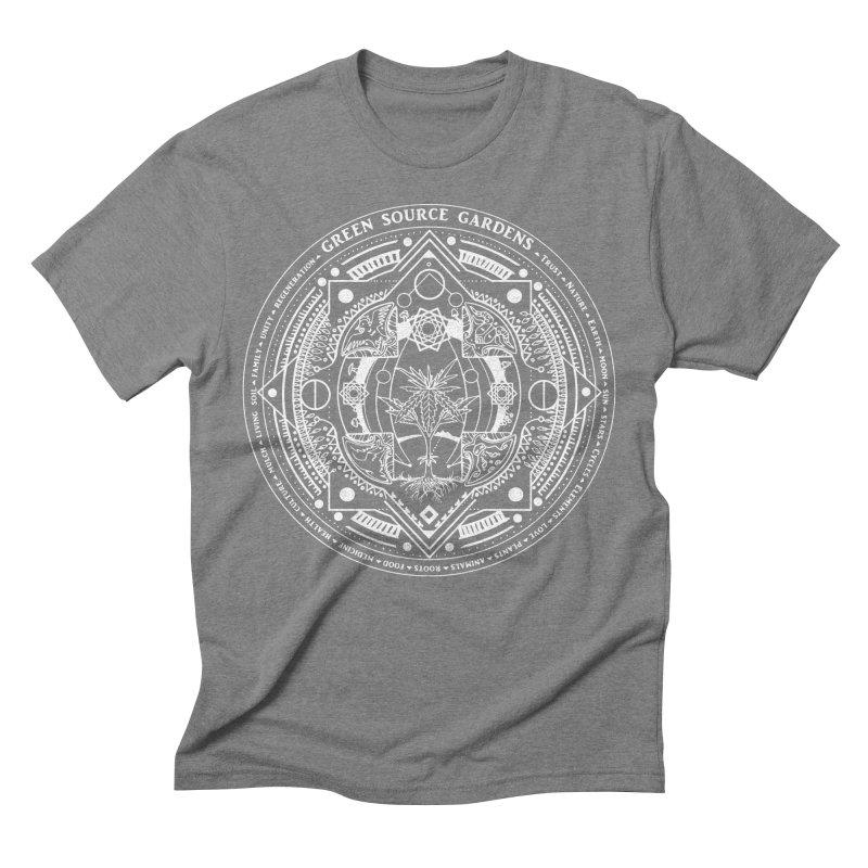 Canna Mandala W Men's Triblend T-shirt by Green Source Gardens