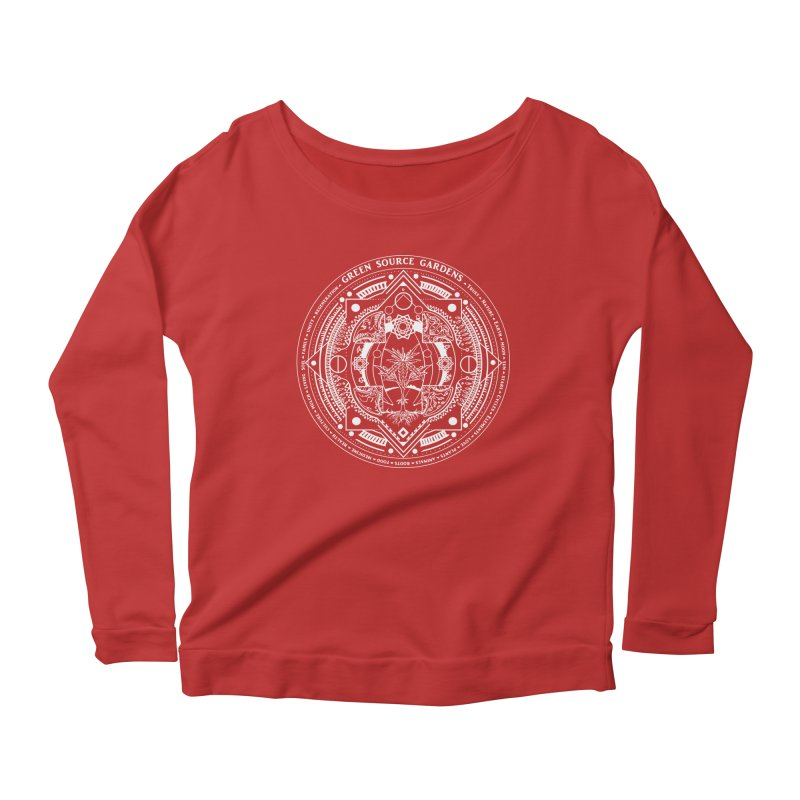 Canna Mandala W Women's Longsleeve Scoopneck  by Green Source Gardens