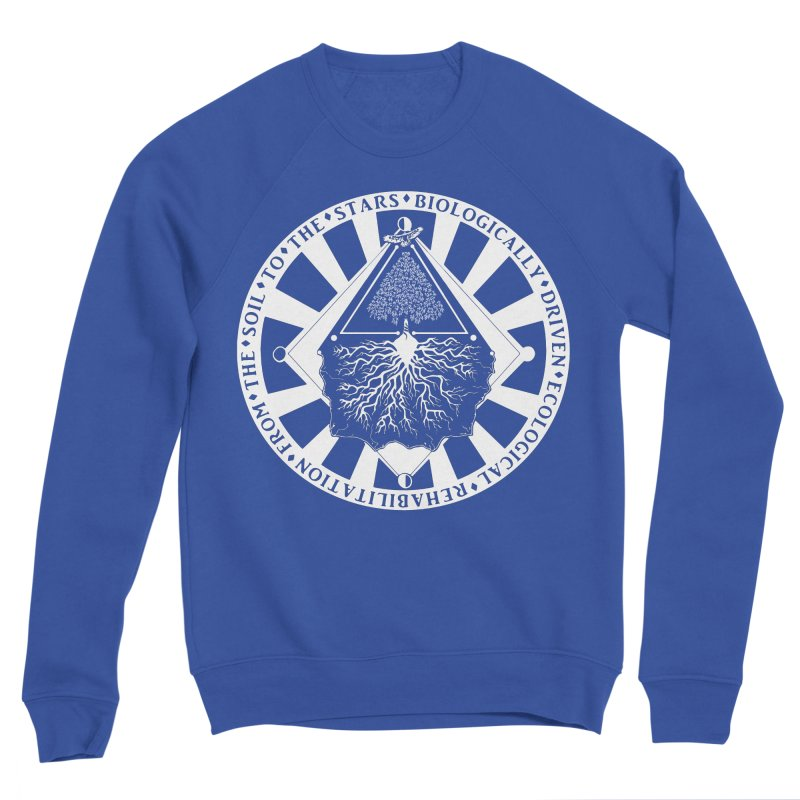 Soil to the Stars in White Men's Sweatshirt by Green Source Gardens