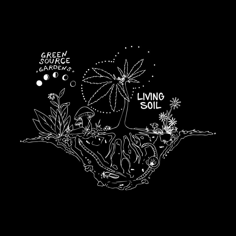Living Soil (white ink) Women's Longsleeve T-Shirt by Green Source Gardens