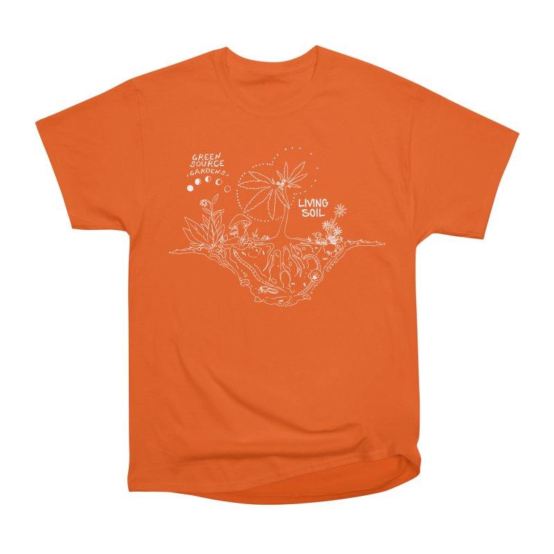 Living Soil (white ink) Men's T-Shirt by Green Source Gardens