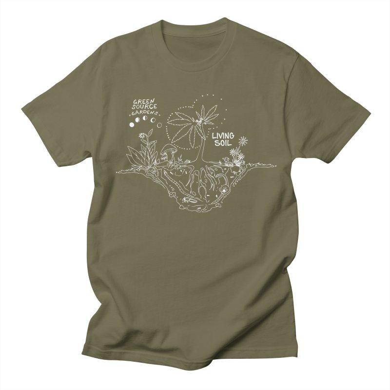 Living Soil (white ink) Women's T-Shirt by Green Source Gardens