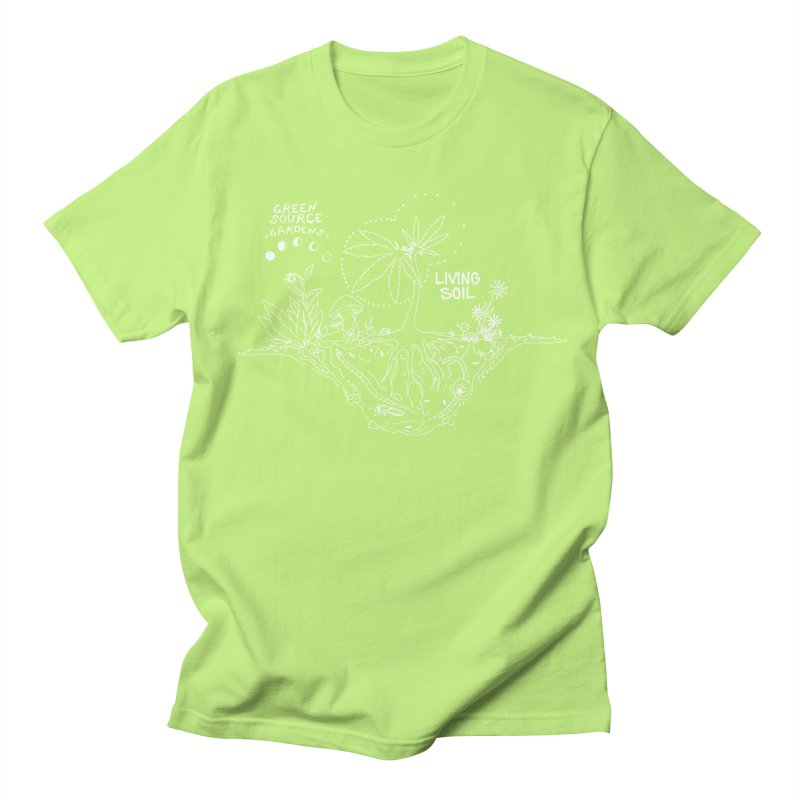 Living Soil (white ink) Women's Regular Unisex T-Shirt by Green Source Gardens