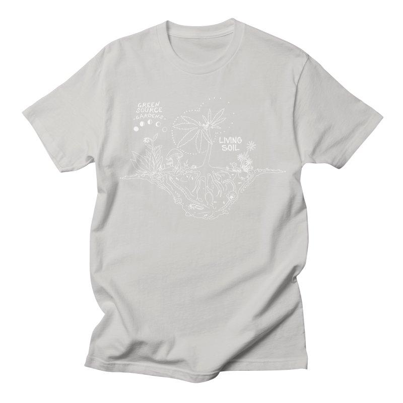 Living Soil (white ink) Women's Regular Unisex T-Shirt by Green Source Gardens