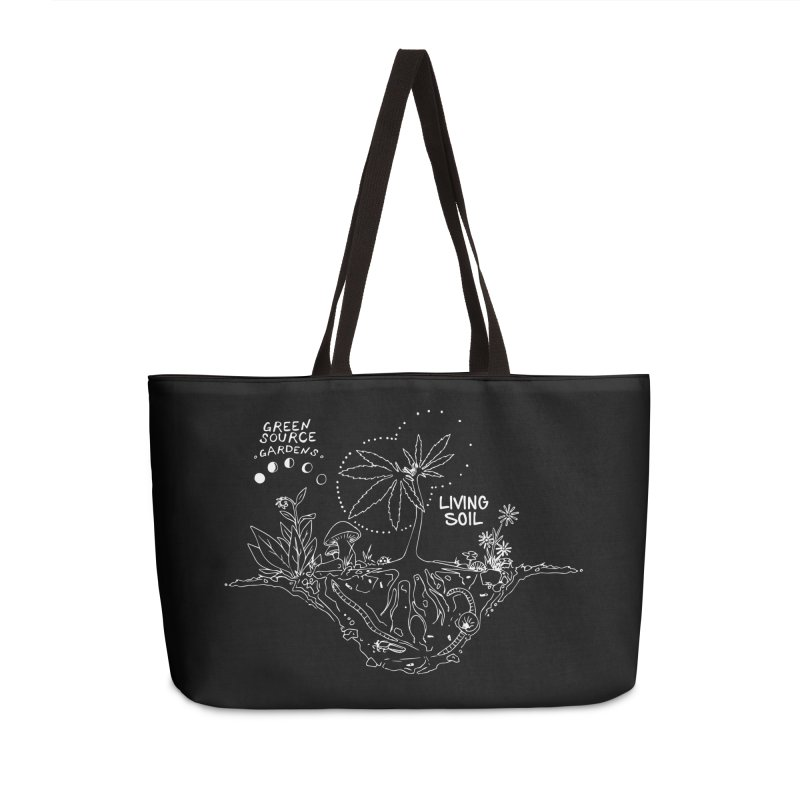 Living Soil (white ink) Accessories Weekender Bag Bag by Green Source Gardens
