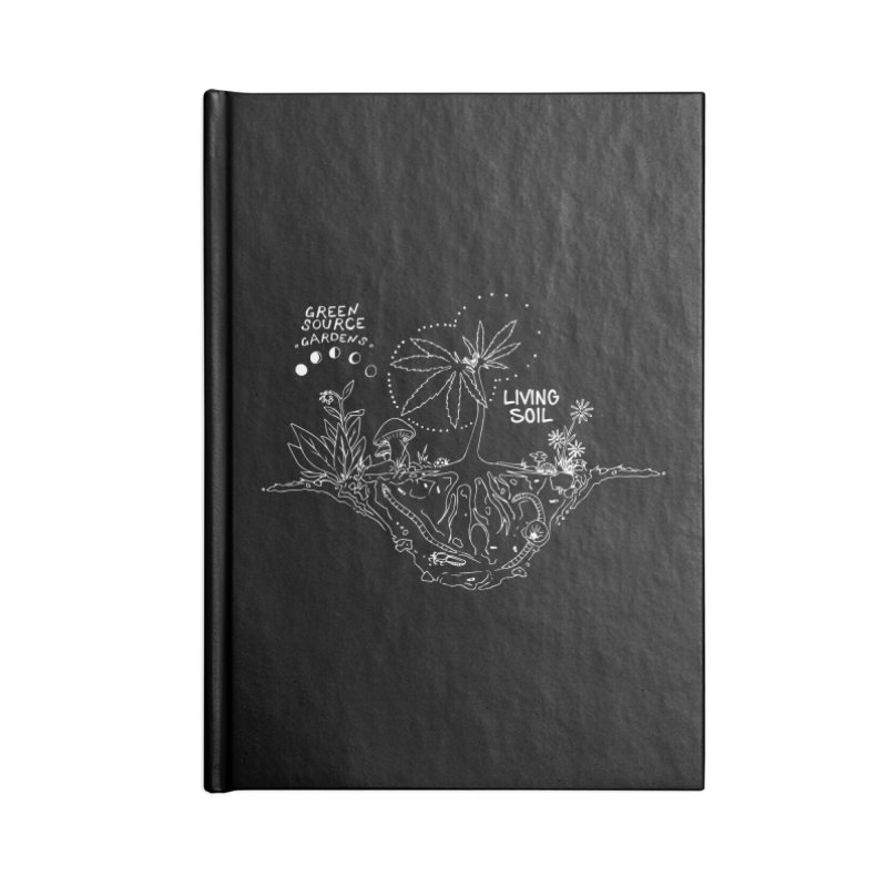 Living Soil (white ink) Accessories Lined Journal Notebook by Green Source Gardens