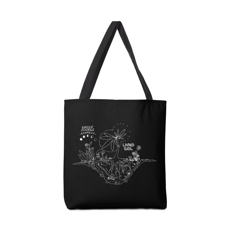 Living Soil (white ink) Accessories Tote Bag Bag by Green Source Gardens