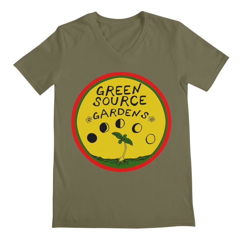 Green Source Gardens Men's Regular V-Neck by Green Source Gardens