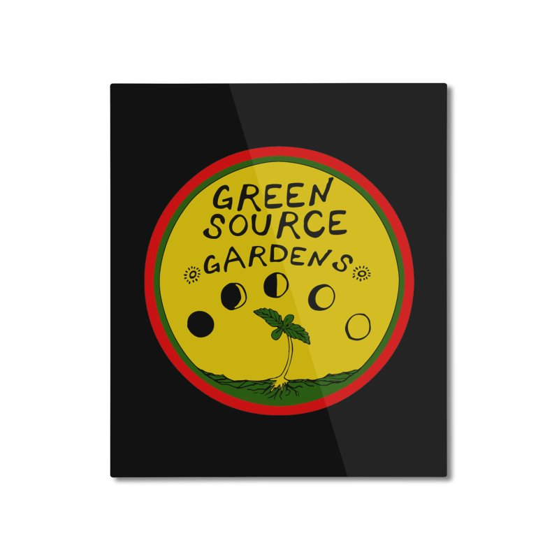 Green Source Gardens Home Mounted Aluminum Print by Green Source Gardens