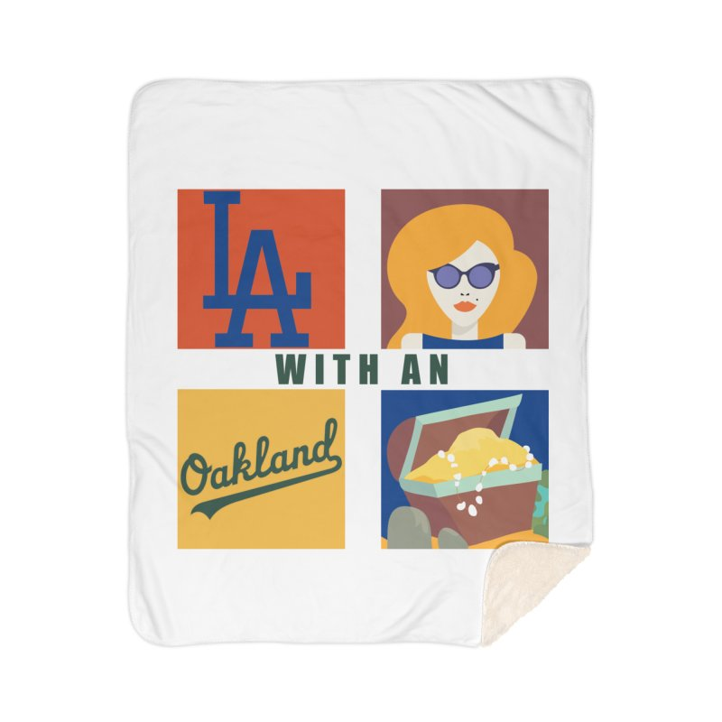 La Face With An Oakland Booty Home Blanket by HIDENbehindAroc's Shop
