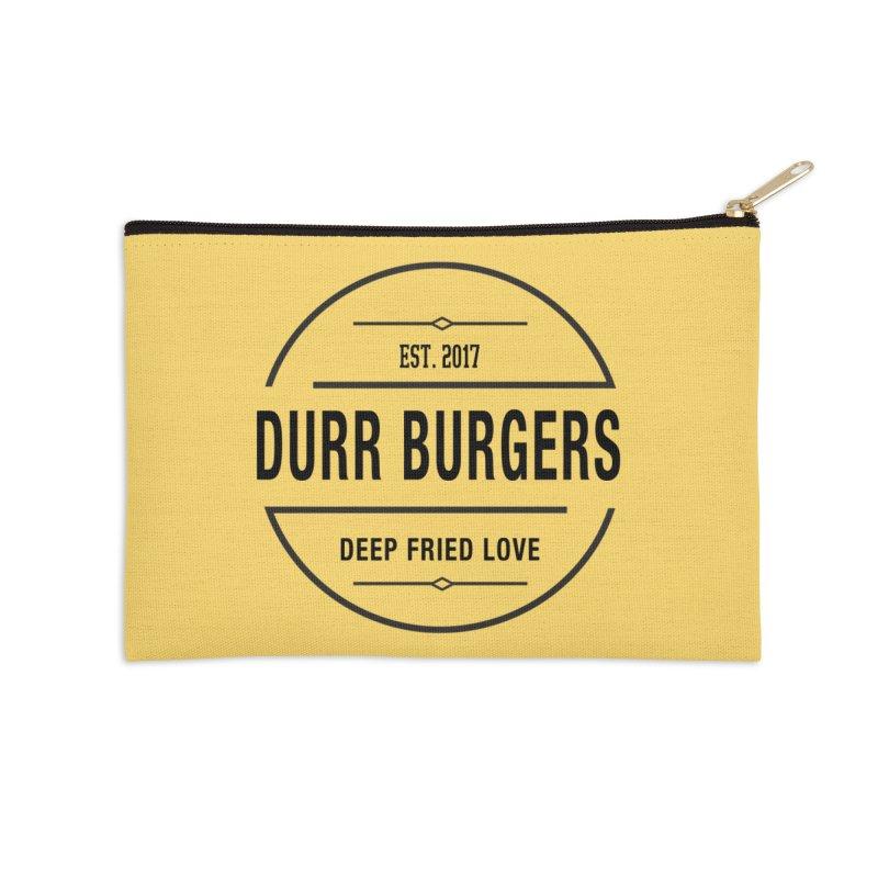 DURR Burgers Accessories Zip Pouch by HIDENbehindAroc's Shop