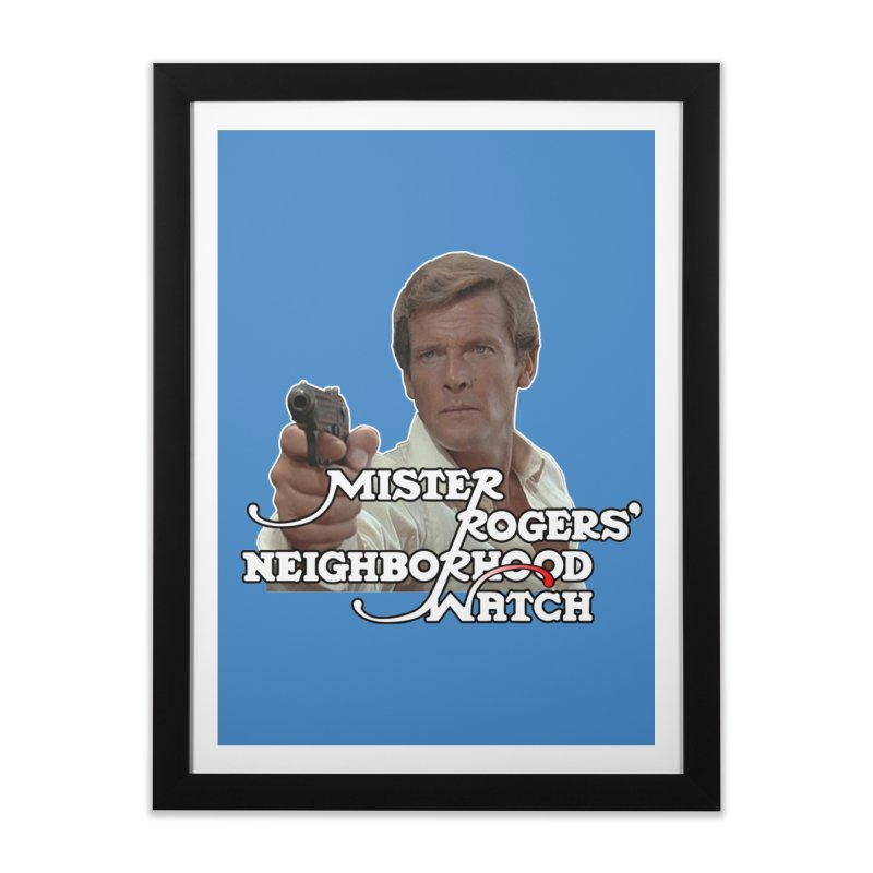 Mr Rogers' Neighborhood Watch Home Framed Fine Art Print by HIDENbehindAroc's Shop