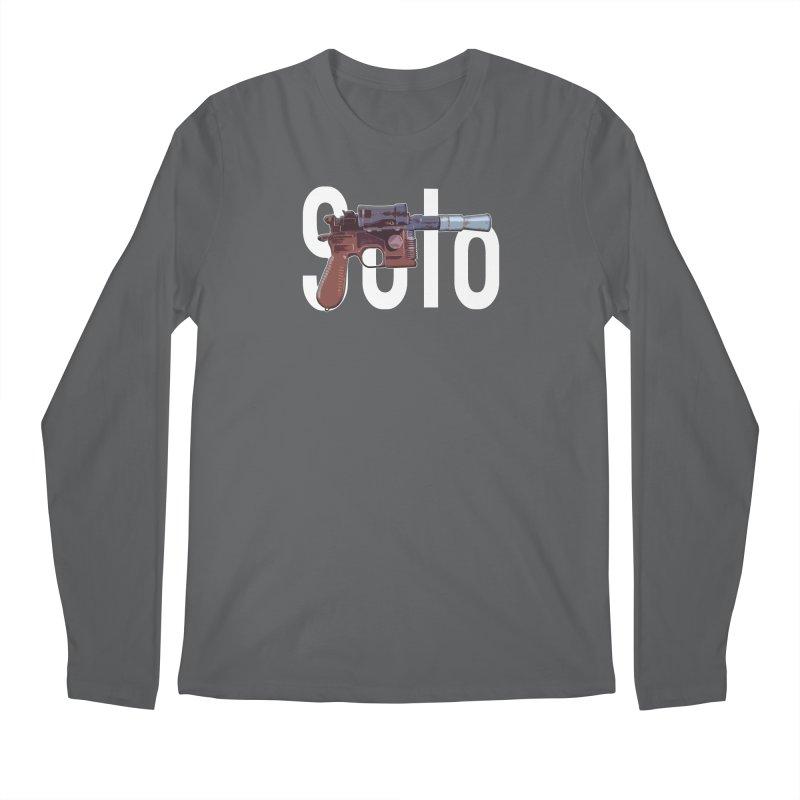 Solo Blaster Men's Longsleeve T-Shirt by HIDENbehindAroc's Shop