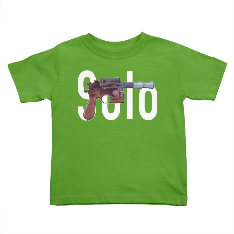 Solo Blaster Kids Toddler T-Shirt by HIDENbehindAroc's Shop