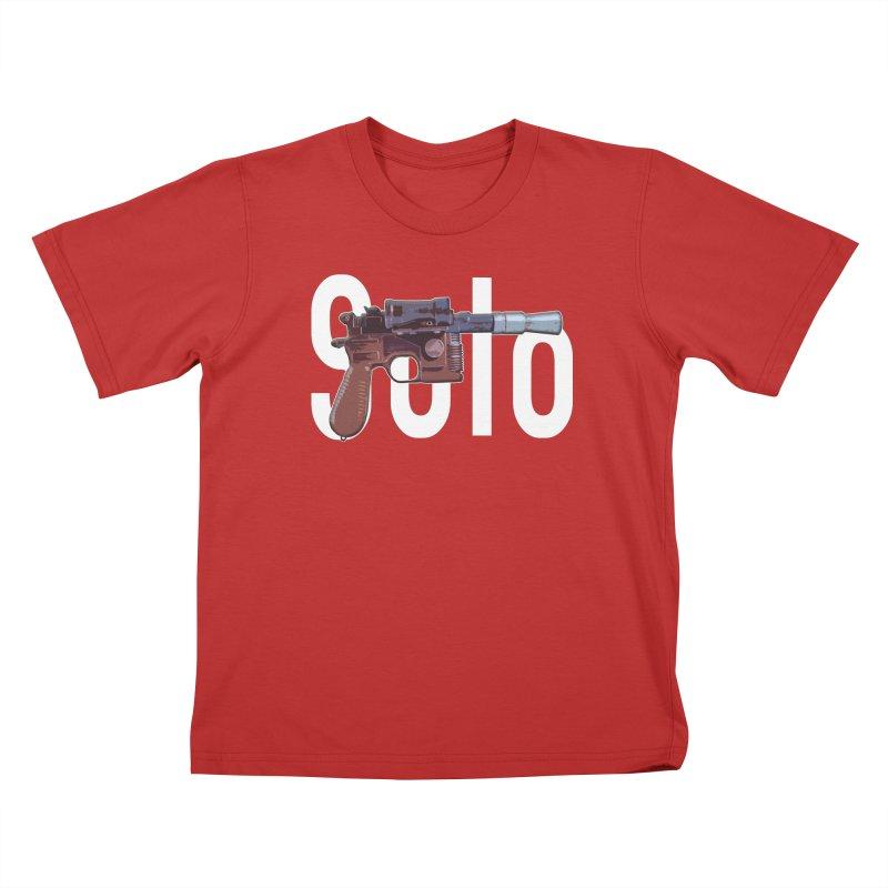 Solo Blaster Kids T-Shirt by HIDENbehindAroc's Shop