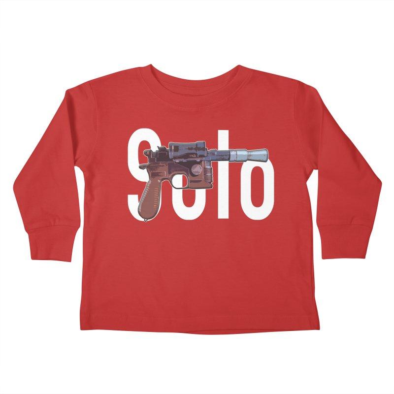 Solo Blaster Kids Toddler Longsleeve T-Shirt by HIDENbehindAroc's Shop
