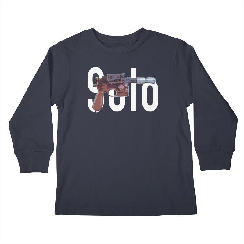 Solo Blaster Kids Longsleeve T-Shirt by HIDENbehindAroc's Shop