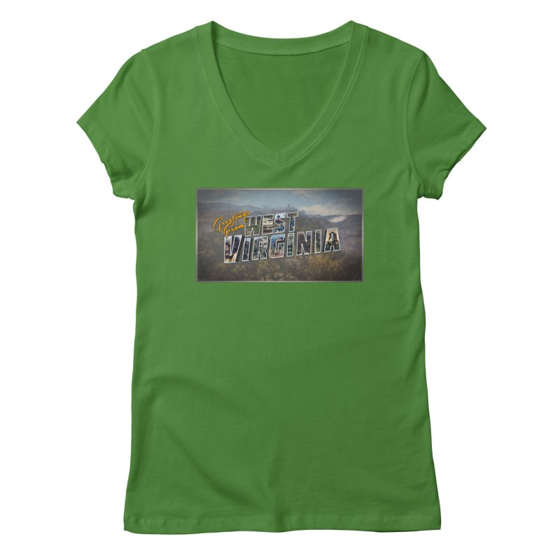 Greetings for Fallout West VA Women's V-Neck by HIDENbehindAroc's Shop