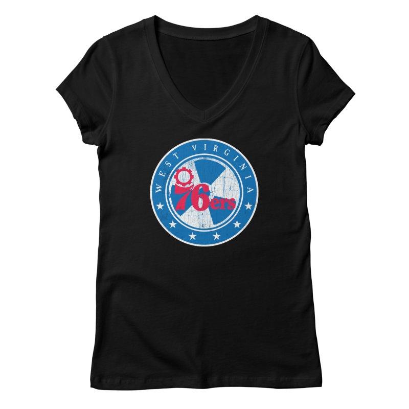 West Virginia 76ers Women's V-Neck by HIDENbehindAroc's Shop