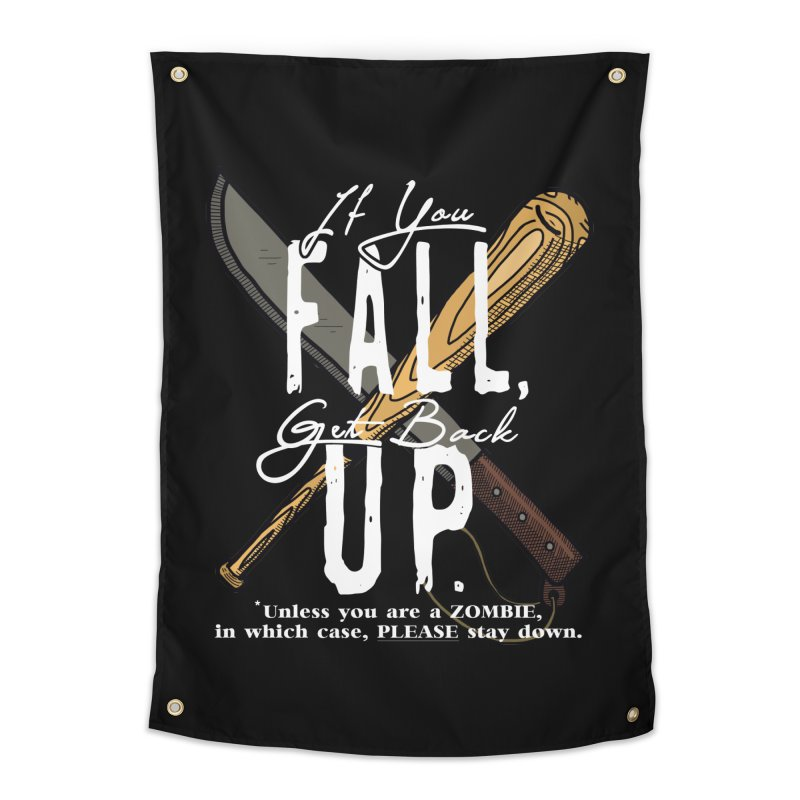Zombie Hunter's Motto Home Tapestry by HIDENbehindAroc's Shop