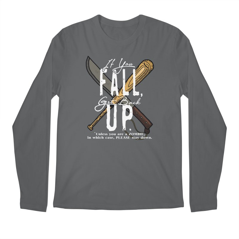 Zombie Hunter's Motto Men's Longsleeve T-Shirt by HIDENbehindAroc's Shop