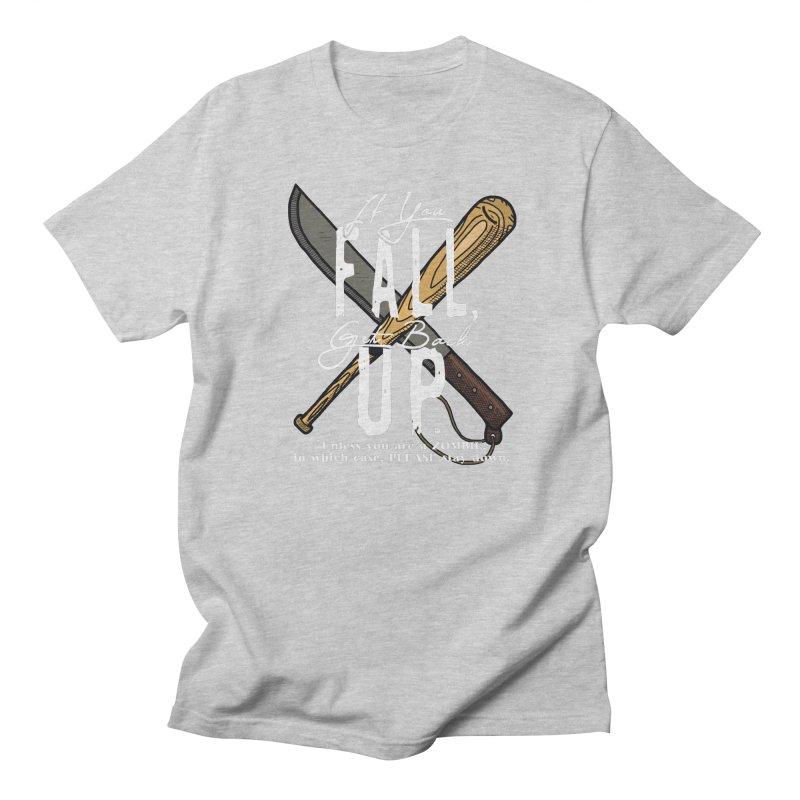 Zombie Hunter's Motto Men's T-Shirt by HIDENbehindAroc's Shop