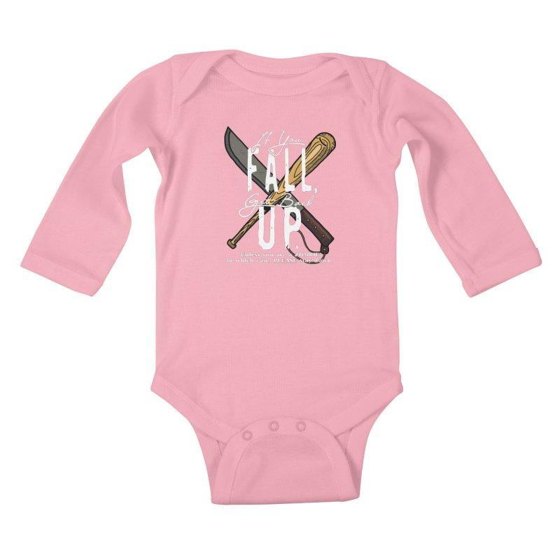 Zombie Hunter's Motto Kids Baby Longsleeve Bodysuit by HIDENbehindAroc's Shop