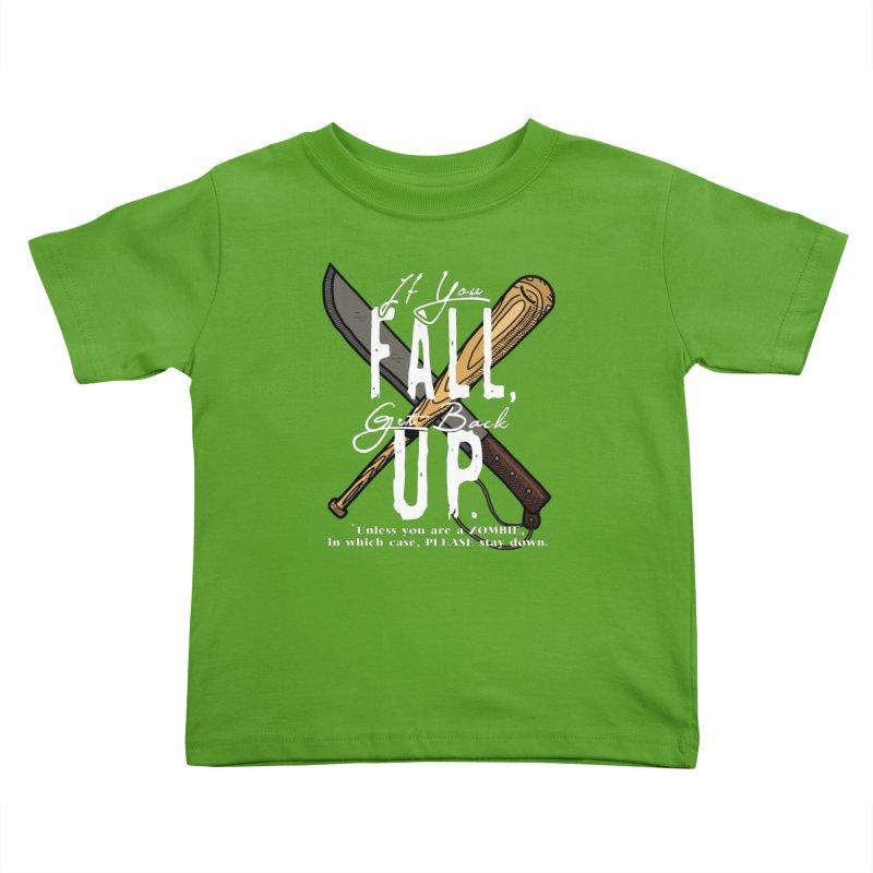 Zombie Hunter's Motto Kids Toddler T-Shirt by HIDENbehindAroc's Shop