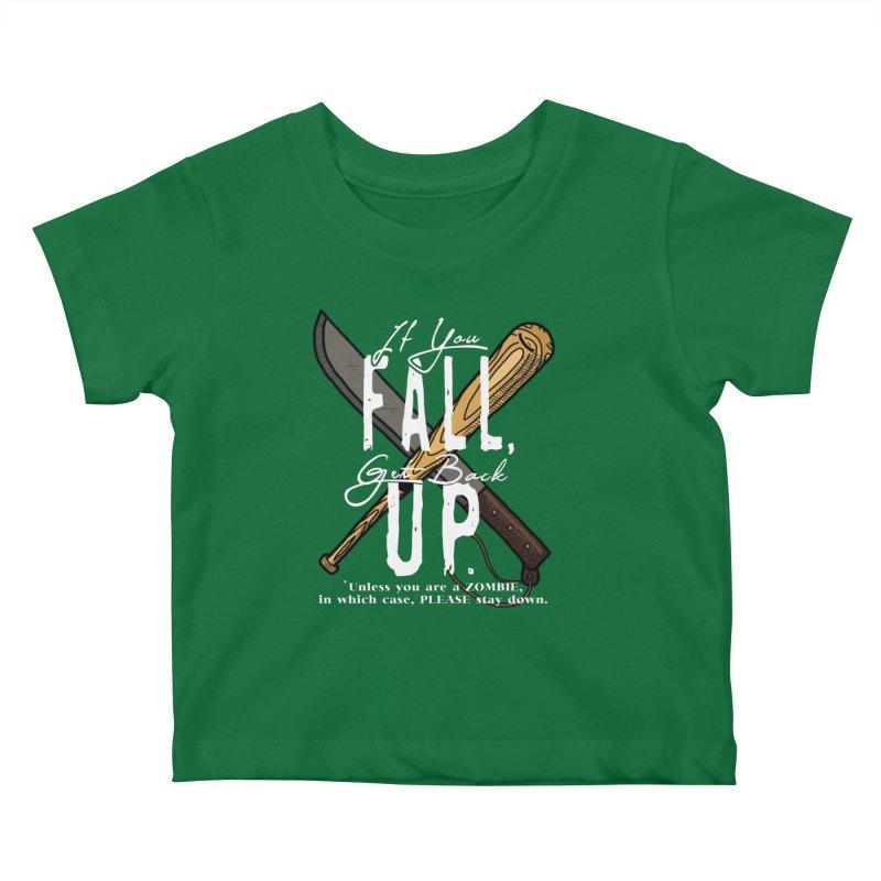 Zombie Hunter's Motto Kids Baby T-Shirt by HIDENbehindAroc's Shop