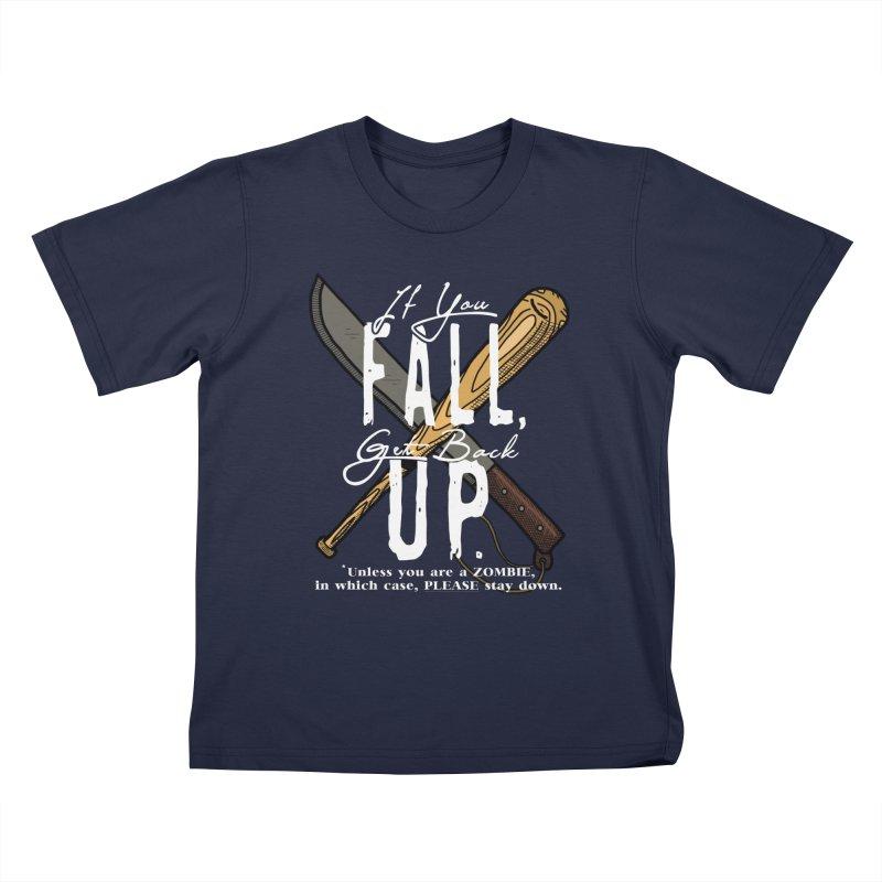 Zombie Hunter's Motto Kids T-Shirt by HIDENbehindAroc's Shop