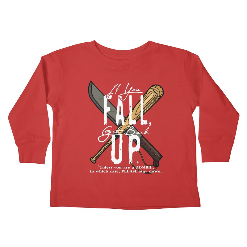 Zombie Hunter's Motto Kids Toddler Longsleeve T-Shirt by HIDENbehindAroc's Shop