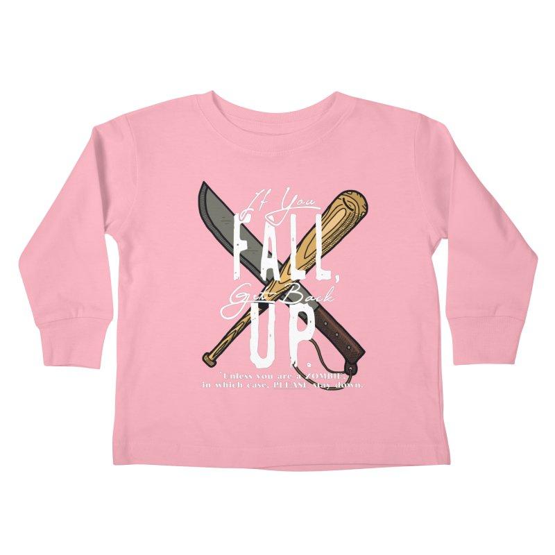 Zombie Hunter's Motto Kids Toddler Longsleeve T-Shirt by HIDENbehindAroc's Shop