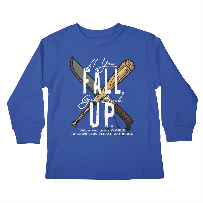 Zombie Hunter's Motto Kids Longsleeve T-Shirt by HIDENbehindAroc's Shop
