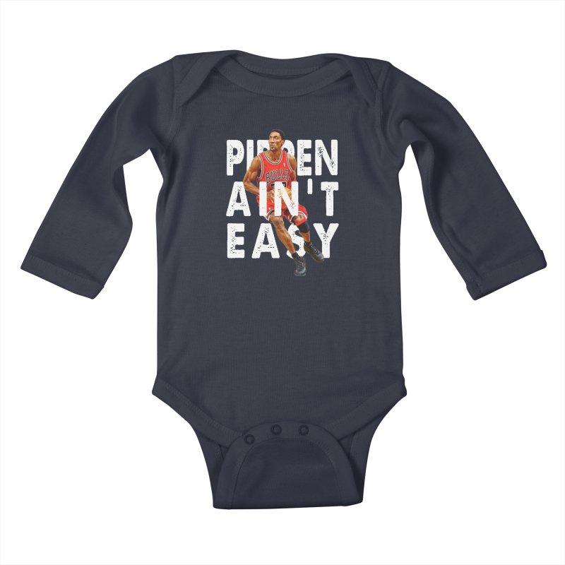 Pippen Ain't Easy Clean Kids Baby Longsleeve Bodysuit by HIDENbehindAroc's Shop
