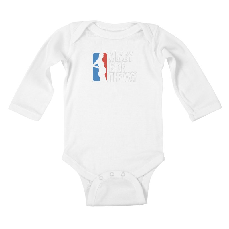 A Baby Is On The Way Kids Baby Longsleeve Bodysuit by HIDENbehindAroc's Shop