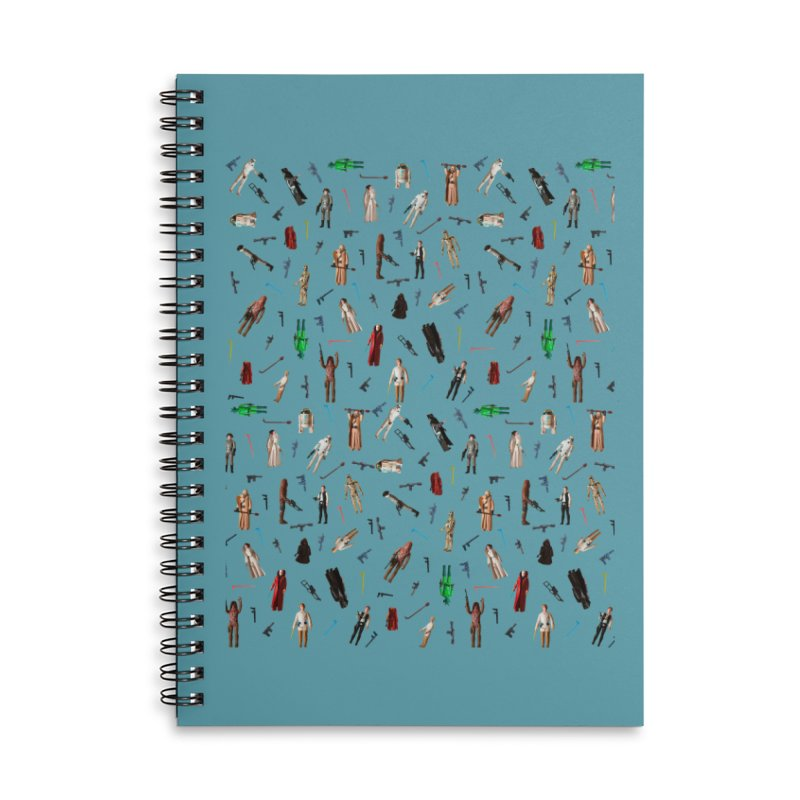 Star Wars Sheets Throwback Accessories Lined Spiral Notebook by HIDENbehindAroc's Shop