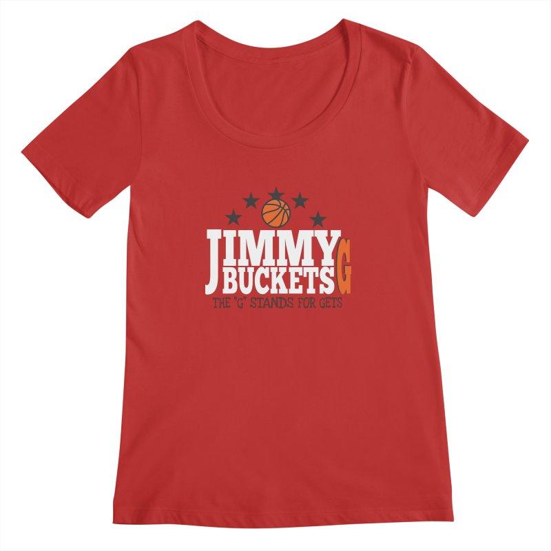 Jimmy G. Butler Women's Regular Scoop Neck by HIDENbehindAroc's Shop