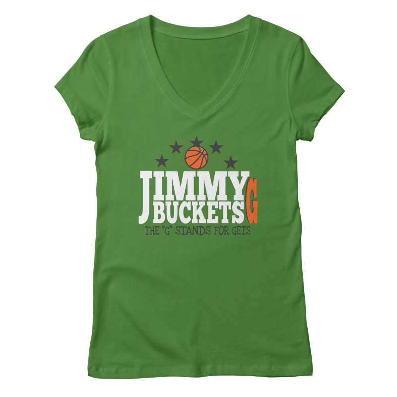 Jimmy G. Butler Women's Regular V-Neck by HIDENbehindAroc's Shop