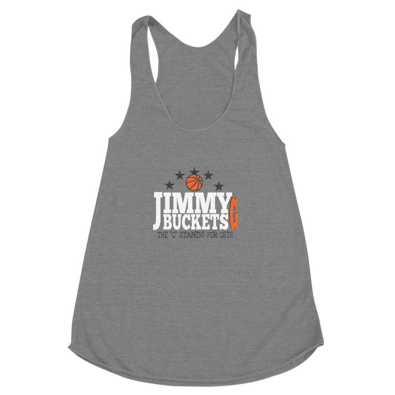 Jimmy G. Butler Women's Racerback Triblend Tank by HIDENbehindAroc's Shop