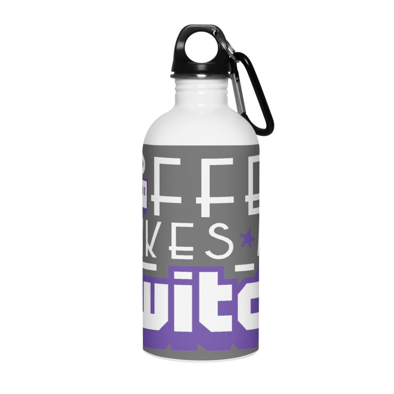 Coffee Makes Me Twitch Accessories Water Bottle by HIDENbehindAroc's Shop