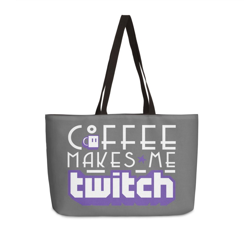 Coffee Makes Me Twitch Accessories Bag by HIDENbehindAroc's Shop