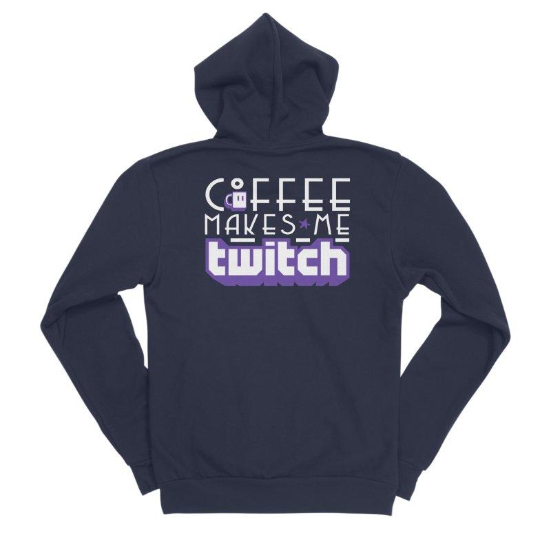 Coffee Makes Me Twitch Men's Sponge Fleece Zip-Up Hoody by HIDENbehindAroc's Shop