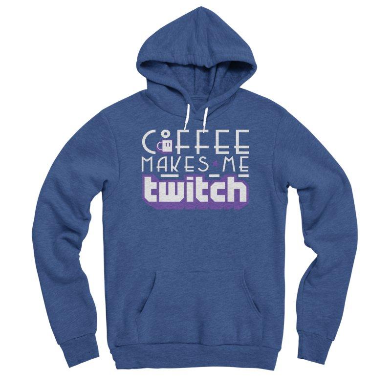 Coffee Makes Me Twitch Men's Sponge Fleece Pullover Hoody by HIDENbehindAroc's Shop