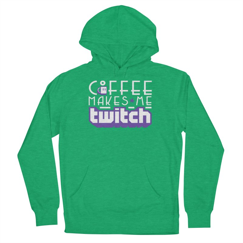 Coffee Makes Me Twitch Men's French Terry Pullover Hoody by HIDENbehindAroc's Shop